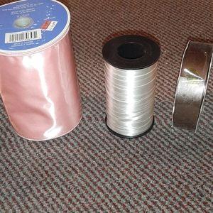 3 brand new rolls of ribbon